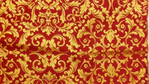 """Victorian Or Rouge Couleur Floral Square Traversin Coussin Couvre 12 16 18 20/"""" BN"""