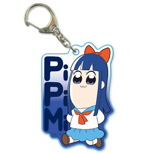 Pop Team Epic Popuko and Pipimi Key Chain Anime Manga NEW