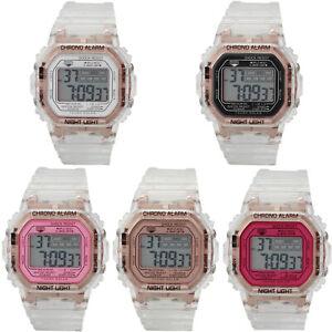 Fashion-Retro-Men-Women-Classic-Digital-Watch-Rose-Case-Transparent-Wristwatch