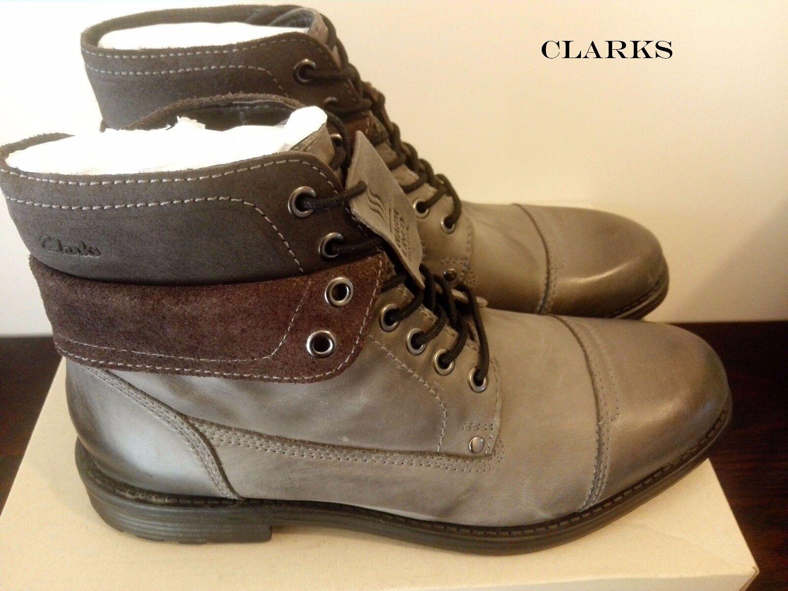 Clarks Da Uomo ** Faulkner Hi Grigio Invernali Wlined Nub ** Stivali Invernali Grigio /EU44 RRP 049da7