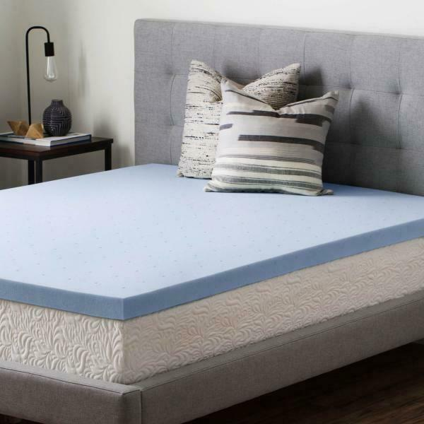 Brookside 2.5  Gel-Infused Memory Foam Mattress Topper Twin Größe Ventilated