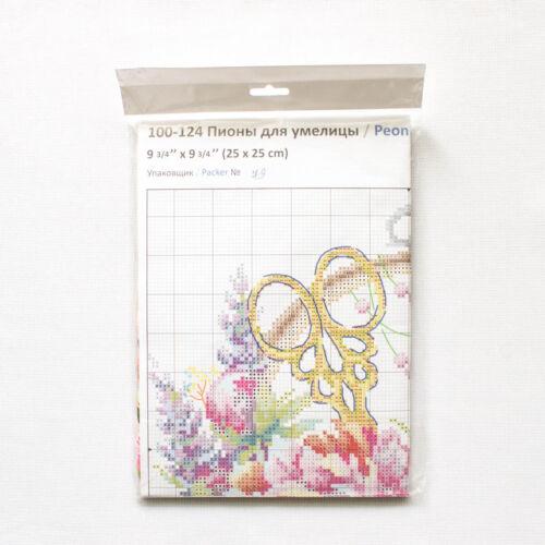 Kit Punto De Cruz aguja mágica aguja 100-124 peonías maravilloso para needlewoman