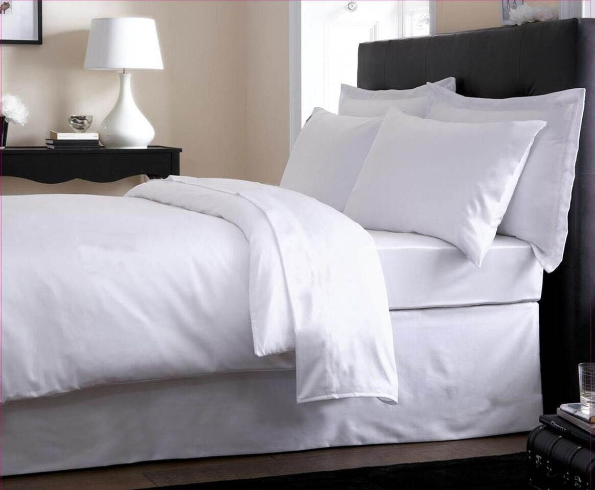 EGYPTIAN COTTON 800 THREAD COUNT DUVET   QUILT COVER Weiß - ALL UK GrößeS