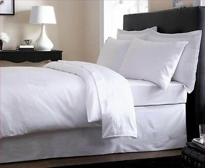 Super King Bed Size Plain 800 Thread Egyptian Cotton 16/'/' Fitted Sheet WHITE