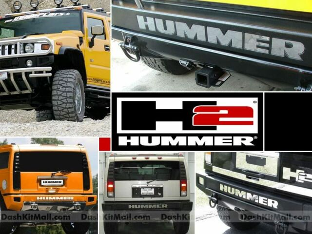 CHROME HUMMER H2 MIRROR BUMPER BACK LETTERS REAR INSERTS H-2 NOT DECALS