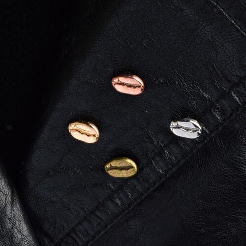 4pcs Cute Mini Coffee Bean Shape Brooch Collar Needle Pin Badge Backpack