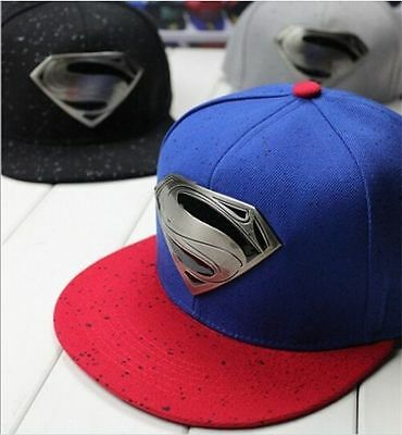 2016 New Fashion Superman Hip-hop Baseball Cap Adjustable Snapback Flat Hat