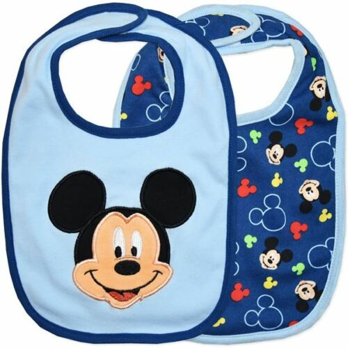 Mickey Mouse NEW Pack of 2 Genuine Licensed Disney Baby Bibs