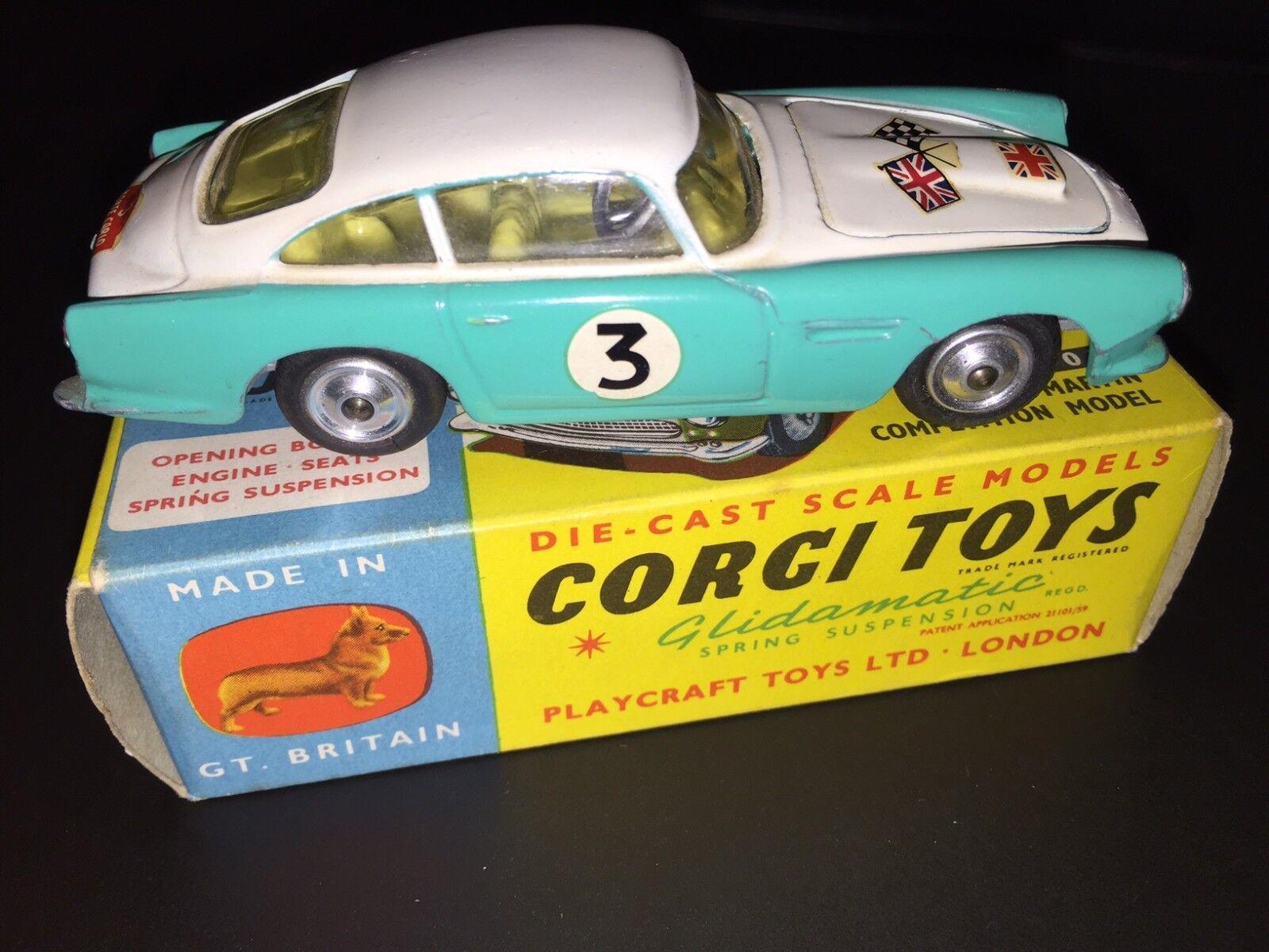 Vintage Corgi Toys   MIB   Aston Martin Db 5 Voiture de Course   N0. 309