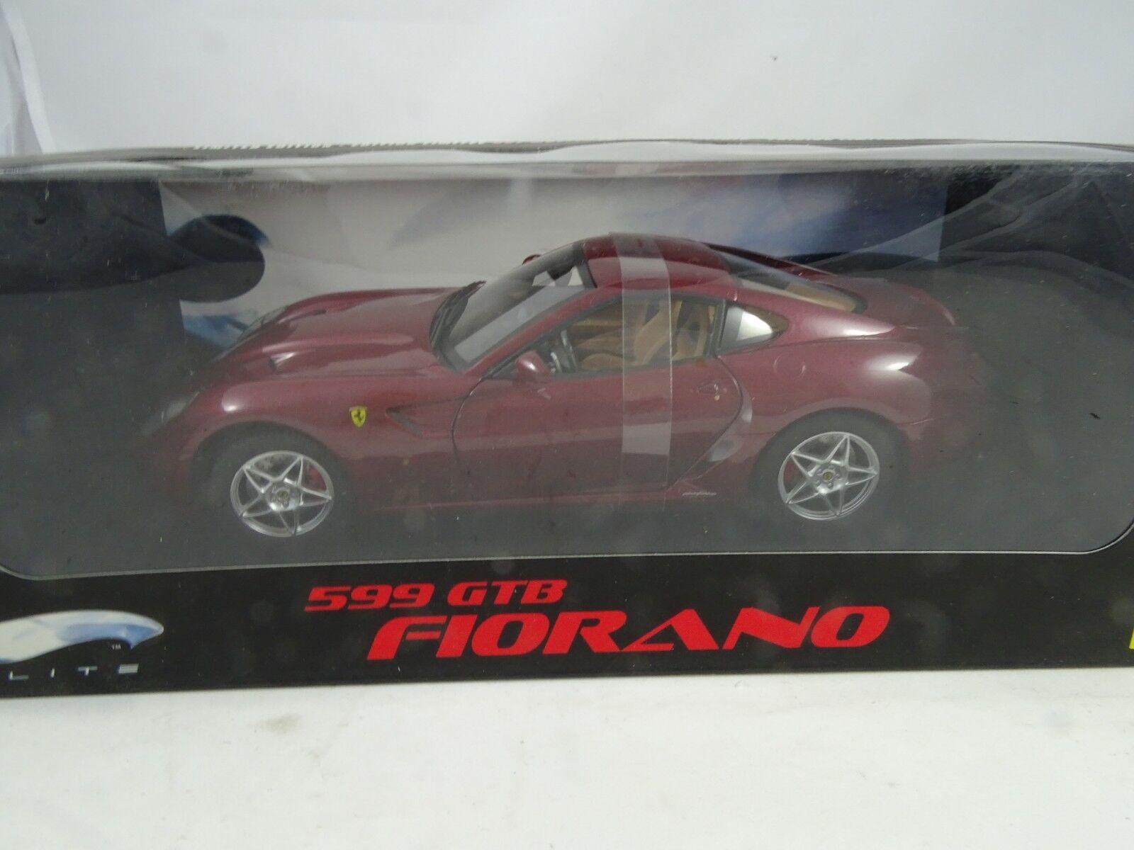ventas de salida 1 1 1 18 Mattel Elite   M1200 Ferrari 599 Gtb Fiorano Rojo Vino - Rareza§  punto de venta