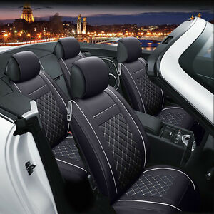 front rear car pad cushion seat covers 5 seats fits subaru forester 2014 2016 ebay. Black Bedroom Furniture Sets. Home Design Ideas
