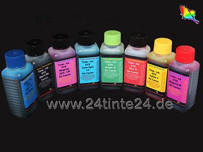8x100ml Tinte Nachfülltinte refill ink Canon Pro9000 Mark II 2 CLI 8R 8G 8bk 8Y