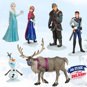 6x-Figure-Anna-Elsa-Doll-Sven-Figurine-Topper-Toy-Loose-Olaf-Cake-Frozen