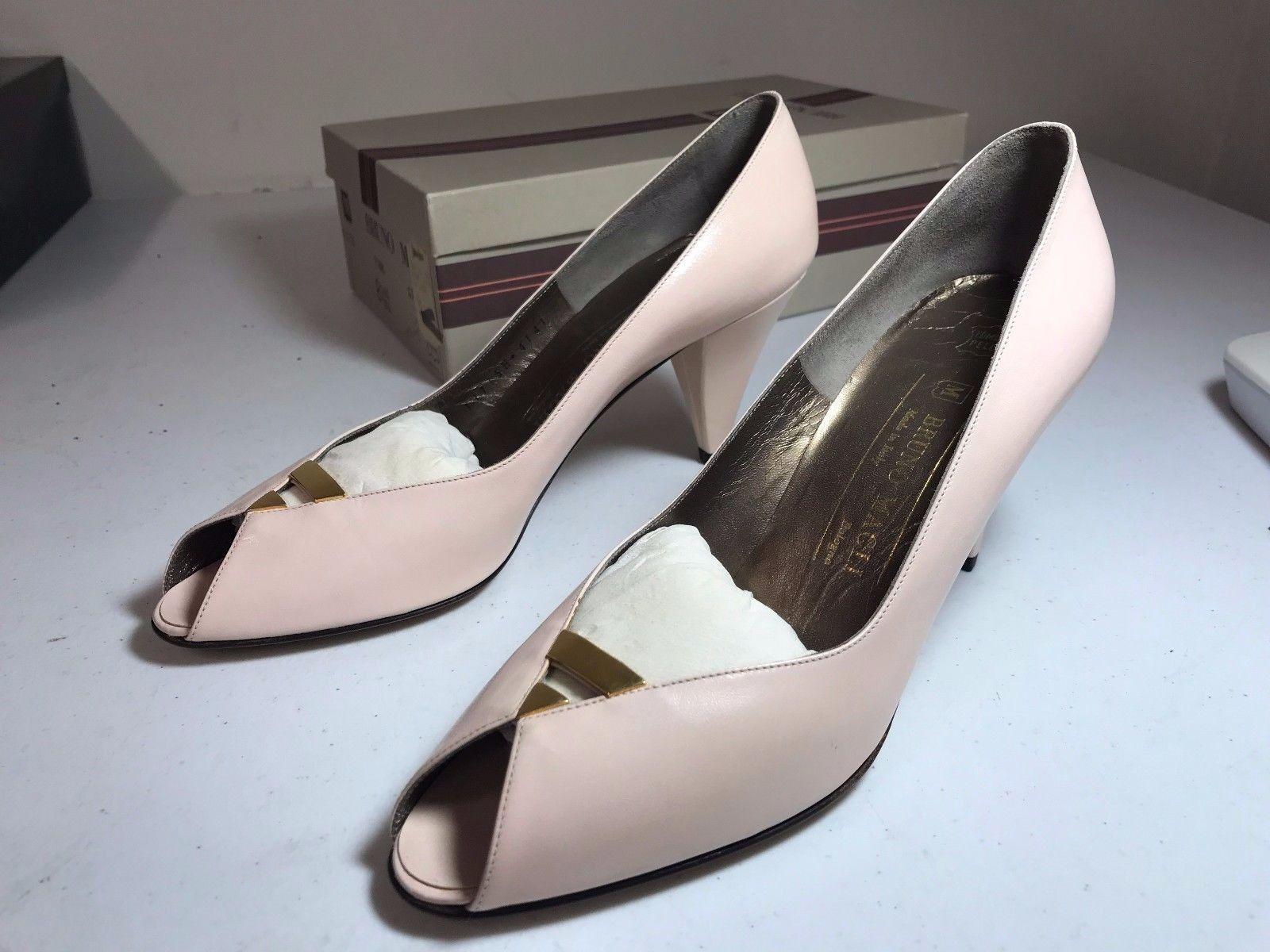 Italian Bruno Magli Baby Pink Heel Open Toe SZ 8.5 AAAA