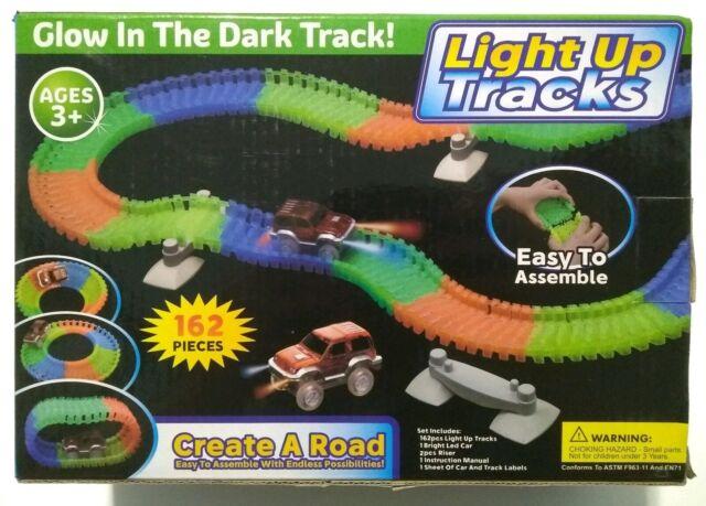 Magic Toy Track Car Glow In The Dark Race Mega Set 162 Pcs For Sale Online Ebay