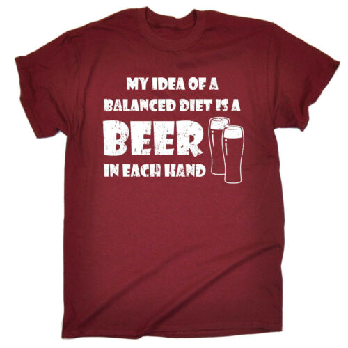 My Idea Of A Balanced Diet à Beer MENS T-SHIRT tee birthday booze lager funny