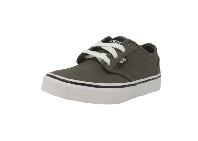 fb14ca2f44e9 VANS Atwood Canvas Charcoal Gray White Shoes Kids Youth Sneakers Boys Shoes