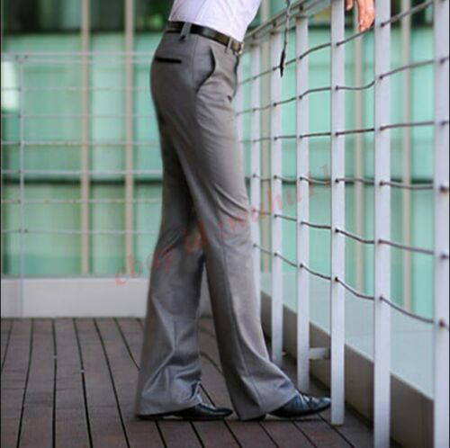 Casual mens slim western style loose bell-bottoms pants tango trousers sz 27-36