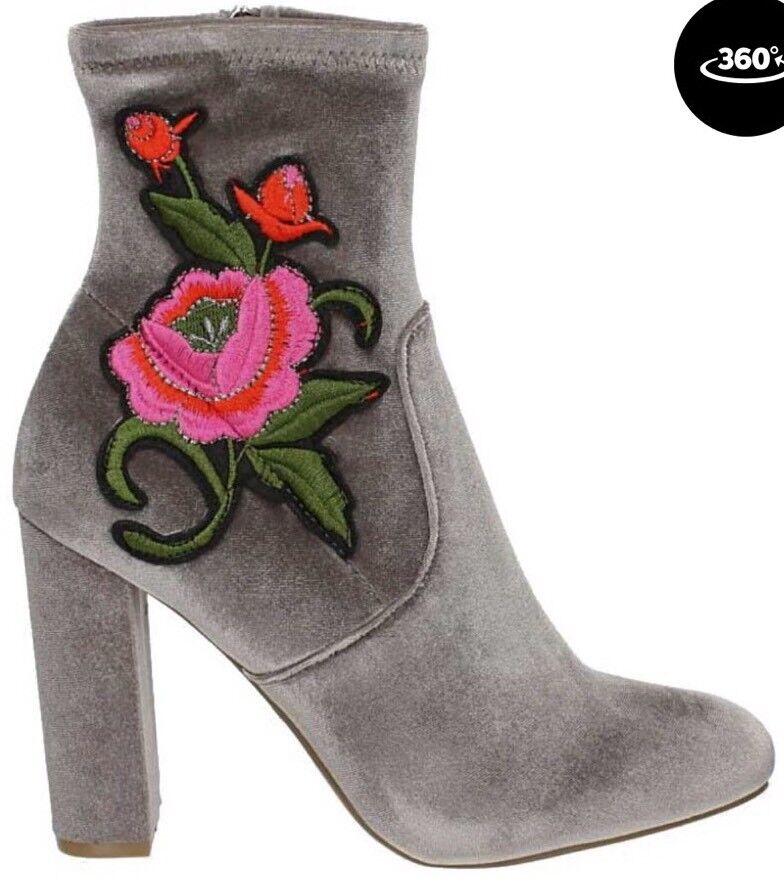 STEVE MADDEN 'Edition' Velvet Floral Bootie 8.5M  $130