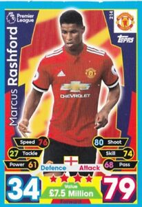 Topp Premier Gold 2017//18 Marcus rashford Manchester United