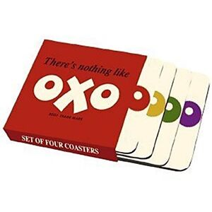 OXO-logo-set-of-four-cork-backed-drinks-coasters-hb-REDUCED-TO-CLEAR