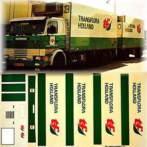 Scania-Transflora-Hollande-Nl-1-87-Camion-Autocollant-Decalcomanie