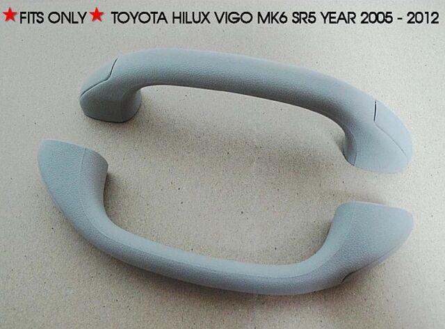 ROOF GRAB GREY HANDLE PAIR FOR TOYOTA HILUX VIGO MK6 SR5 PICKUP 2005-2012 06 07