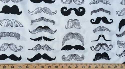 Mustache Alexander Henry Wheres mi Stache Barbero Barba Crema De Tela De Algodón t3//2