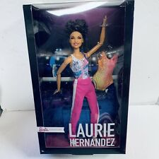 Laurie Hernandez Gymnast Barbie Doll Toy NEW Made to Move Body Hispanic Brunette