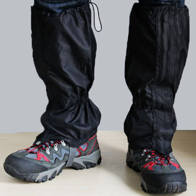 1Pair Waterproof Outdoor Hiking Walking Climbing Hunting Snow Legging Gaiters Camping & Outdoor