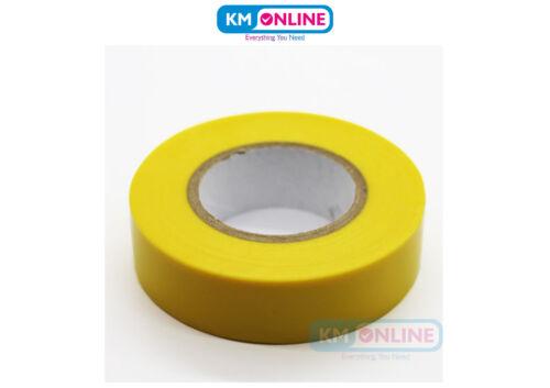 Aislamiento DE PVC Eléctrico Amarillo Cinta 19mm X 20m Bs en 60454 trabajo eléctrico