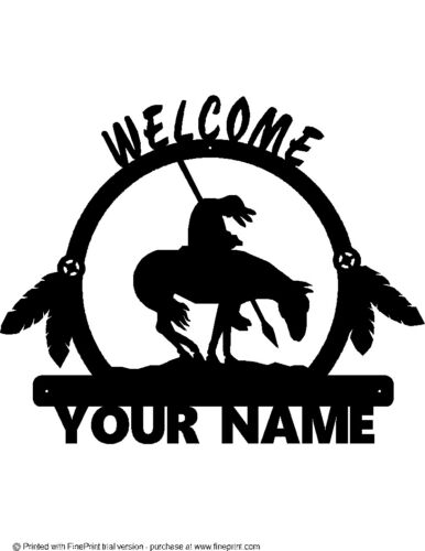 END OF TRAIL WELCOME SIGN STEEL COPPER BLACK VEIN POWDER COAT FINISH YOUR NAME
