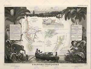 Mapa-Antiguo-Francia-Levasseur-frances-colonias-de-Africa-impresion-de-arte-cartel-BB12032B