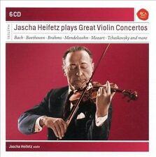 JASCHA HEIFETZ PLAYS GREAT VIOLIN CONCERTOS (NEW CD)