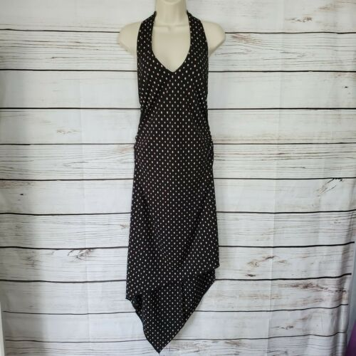 Connected Petite | Black & Pink Polka Dot Halter H