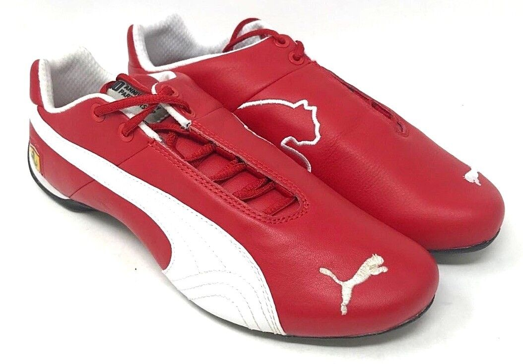 Puma Future Cat Leather SF -10- SIZE 8 red Corsa-White