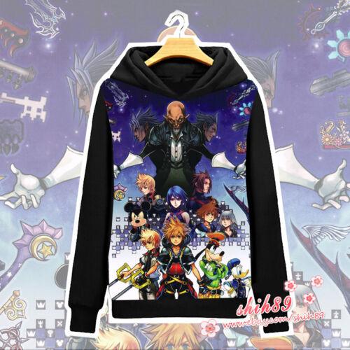 Anime Kingdom Hearts Sora Coat Unisex Hoodie Jacket Long Sleeve Cosplay #L-22A