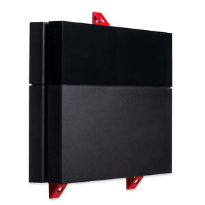 Wall-Mount-for-PlayStation-4-PS4-Original-Game-Console-PS4-Wall-Bracket-Red