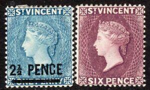 St-Vincent-1890-grey-blue-2-5d-on-1d-dull-purple-6d-crown-CA-p14-mint-SG55-57