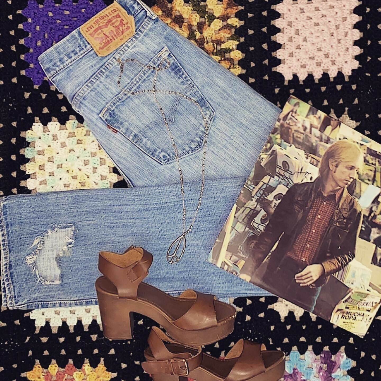 vintage 80s 90s mens 501 Levis button fly - image 1