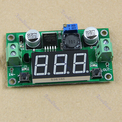 Led Voltmeter Buck Step Down Converter Module + LM2596 DC-DC Voltage Regulator
