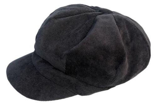 Cool4 Feincord Ballonmütze Breit Cord Bakerboy Mütze Chemo Cap Visor Vintage E36