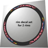 Mavic Cosmic Carbone Sl / Slr Usa Flag Design Replacement Rim Decals For 2 Rims