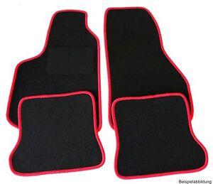 velours fu matten f r ford fiesta mk7 ja8 rand rot matten autoteppiche ebay. Black Bedroom Furniture Sets. Home Design Ideas