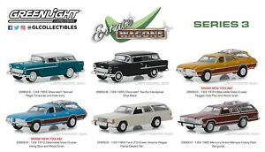 Greenlight-Estate-Wagons-Series-3-Set-of-6-Diecast-Model-Cars-1-64-Scale-29950