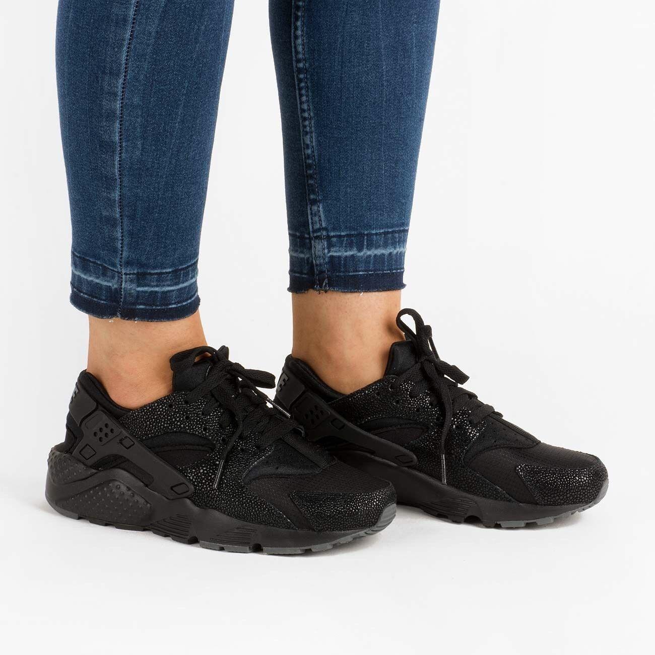 Nike Huarache Run 6 se (GS) juventud tamaño 6 Run (909143 001) Negro 6e156a