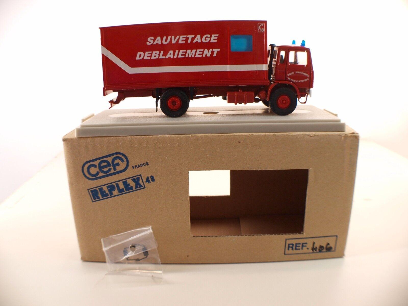 CEF Replex 43 n° 406 Camion Renault Pompiers Sauvetage déblaiement neuf MIB