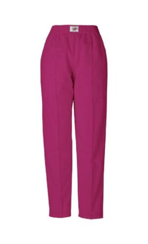 CHEROKEE WINE LADIES WAISTED FRONT SEAM SCRUBS STYLE 1020 PANTS//TROUSER VARIOUS