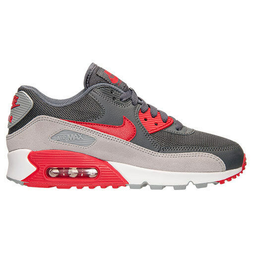 6c3a72c199ca4 New Nike Women s Air Max 90 Essential (616730-019) Dark Grey University  Grey University Grey University Red Grey 3fc945