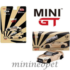 MINI-GT-MGT00030-LIBERTY-WALK-LB-WORKS-NISMO-NISSAN-SKYLINE-GT-R-R35-1-64-GOLD